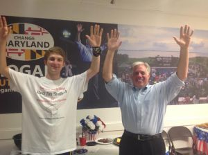 When I was at the opening of the Hogan Victory Center in Montgomery County it was even more apparent that this is a winnable race given how massive the turnout was. That said, we did allow ourselves to have fun after it was over.