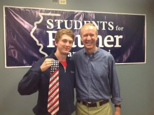 I'd say meeting my next governor within the first week of my arrival is a pretty good way to start college off.