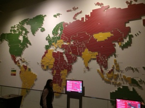 On one of the nights we rented out the Newseum, and this picture of press freedom says it all. If you look at the Middle East, you'll notice there is only one green (free) country: Israel.