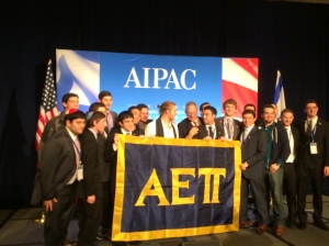 AEPi standing with Israel.