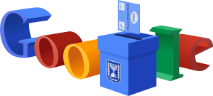 Google is reminding Israelis to get out and vote! Once again, this is where I'm sad I can't find the picture of me with Bibi from when I was in 5th Grade. Image source: https://www.google.com/doodles/israel-elections-2015