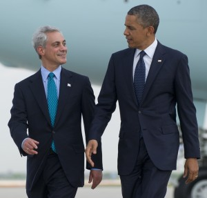 Will Rahm's association with Obama be enough to carry him to a majority this April? We'll see, but I think so.  Image source: http://www.huffingtonpost.com/rahm-emanuel/obama-climate-change-speech_b_3505144.html