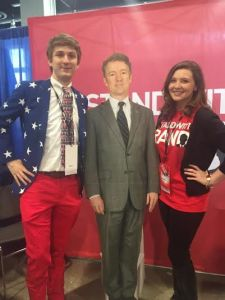 This is the only time that comes to mind that I have, quite literally, stood with Rand (except for the one time I met him in person).