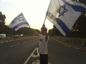 By far the most meaningful flag-waving I've ever done.