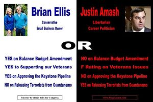 One of the ads run against Amash in his primary last cycle.