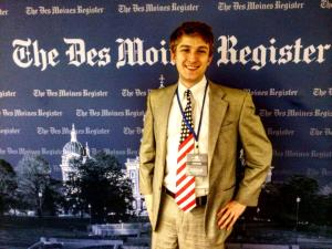 Thanks to the Des Moines Register for letting me work for them for the day!