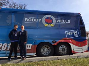 With Robby Wells, besides the bus that led to this whole story .