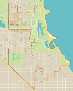 Do you live in the Fifth Ward? Check out this map to figure it out. Image via http://chicagomaroon.com/2015/02/10/five-challenge-alderman-in-fifth-ward-election/