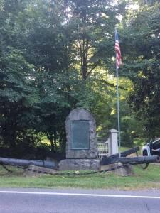 The Cooch's Bridge monument.