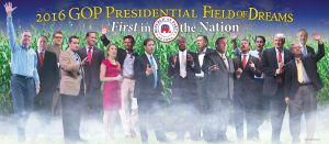 Remember when the presidential field was this big? Photo via Iowa Republican.