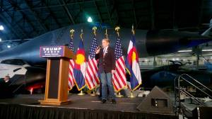 Weston Imer, founder of Colorado Kids for Trump and co-chair of his Jefferson County organization, speaks before a Trump rally. Image via YouTube.