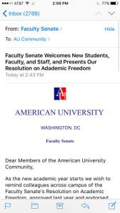 The administration at American University must have felt so strongly about this that they failed to spell check their own title. However, their hearts were in the right place.