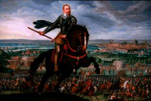A triumphant Gustavus Adolphus at the Battle of Breitenfeld. Image via Wikipedia.