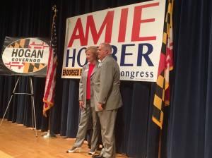 Governor Larry Hogan endorsing Amie Hoeber.