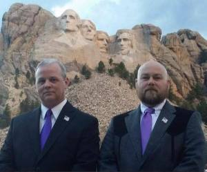 Chris Keniston launched his campaign at the foot of Mount Rushmore. That's a pretty cool place to start a bid for the White House. Image via Chris Keniston.