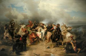The Battle of Lützen, Gustavus Adolphus's final stand. Image via Wikipedia.