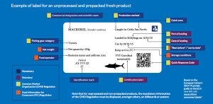 This is an example of what fish labels look like in the EU. Image via Oceana.