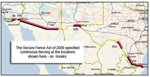 The 700 miles of fence this bill would provide for. Image via Republican Security Council.