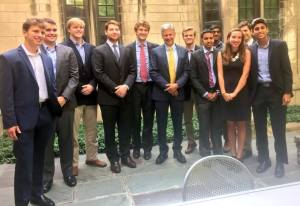 Before Johnson gave his address, he spoke with some College Republicans about his campaign.