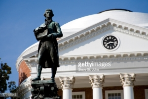 Jefferson at UVA. Image via Getty Images.
