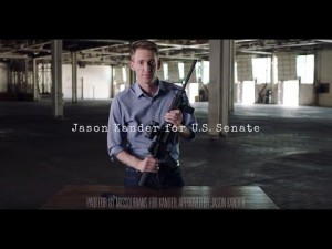 A clip from Jason Kander's fantastic ad. https://www.youtube.com/watch?v=-wqOApBLPio Image via YouTube.