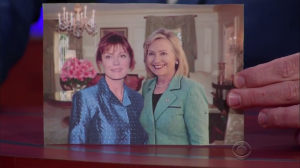 Sarandon and Clinton. Image via Business Insider.