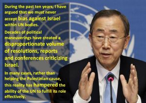 Highlights from Ban Ki-moon's final address to the Security Council. Image via UN Watch.