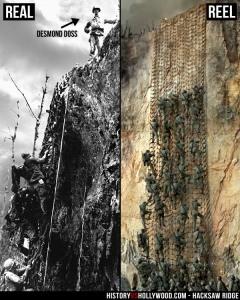 Hacksaw Ridge in history vs. Hollywood. Image via HistoryvsHollywood.