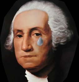 Sad George Washington. Image via Politicus USA.