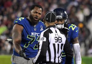 Michael Bennett is one of the NFL stars who will be heading to Israel next week. Image via Reuters.