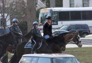 Interior Secretary Ryan Zinke's new ride. Image via Associated Press.